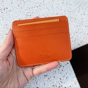 NWT Authentic Tod's 7 Slots Leather Card Case